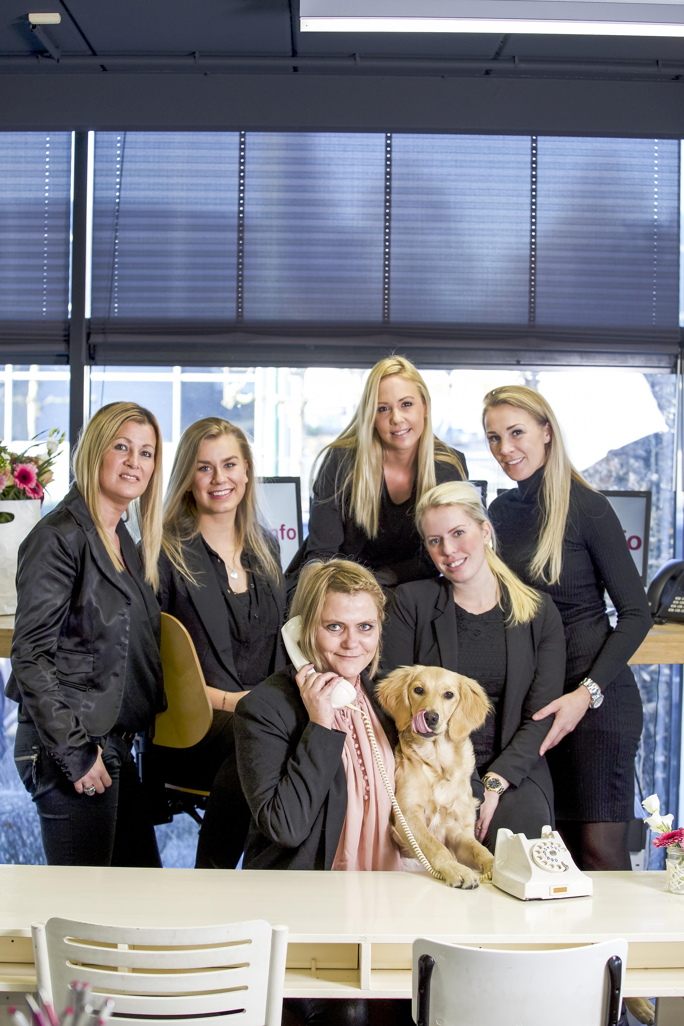 SOEST  Ondernamen -  Call Info Anouschka van der Hammen. De dames van Call info in Soest 29-11-2016